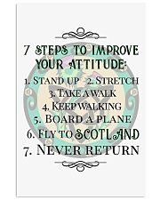 7 STEPS TO IMPROVE YOUR ATTITUDE SCOTLAND 11x17 Poster front