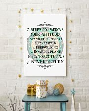 7 STEPS TO IMPROVE YOUR ATTITUDE SCOTLAND 11x17 Poster lifestyle-holiday-poster-3