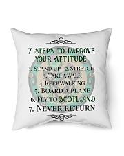 "7 STEPS TO IMPROVE YOUR ATTITUDE SCOTLAND Indoor Pillow - 16"" x 16"" thumbnail"