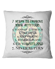 7 STEPS TO IMPROVE YOUR ATTITUDE SCOTLAND Square Pillowcase thumbnail