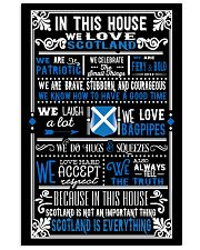 IN THIS HOUSE WE LOVE SCOTLAND 11x17 Poster front