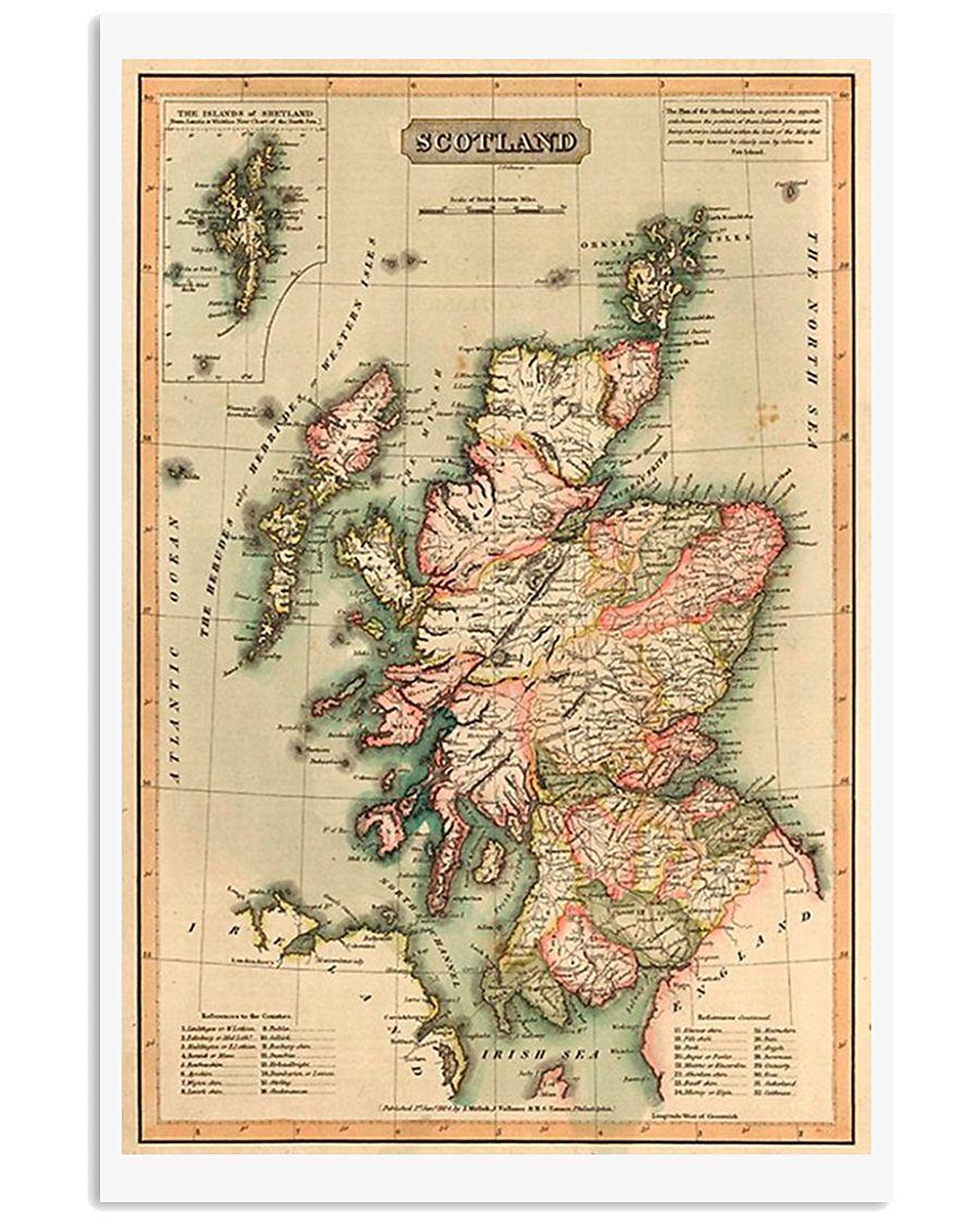 SCOTLAND VINTAGE MAP 1814 REPRINT 11x17 Poster