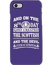 GOD CREATED THE SCOTTISH Phone Case tile