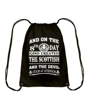 GOD CREATED THE SCOTTISH Drawstring Bag thumbnail