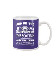 GOD CREATED THE SCOTTISH Mug tile
