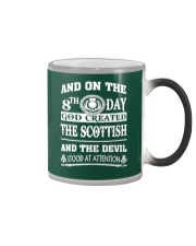 GOD CREATED THE SCOTTISH Color Changing Mug tile