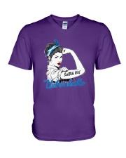 SCOTTISH GIRL UNBREAKABLE V-Neck T-Shirt thumbnail