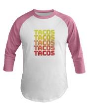 retro taco shirts vintage cinco de mayo  Baseball Tee thumbnail