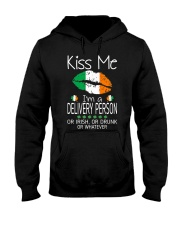 Kiss Me Delivery Person Irish Drunk St Patrick  Hooded Sweatshirt thumbnail