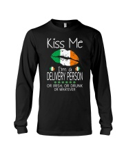 Kiss Me Delivery Person Irish Drunk St Patrick  Long Sleeve Tee thumbnail