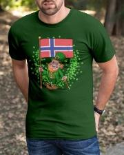 Norway St Patricks Day Norwegian Flag T-Shirt Classic T-Shirt apparel-classic-tshirt-lifestyle-front-52