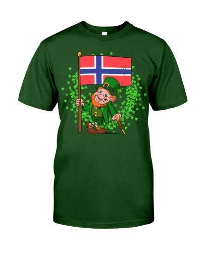 Norway St Patricks Day Norwegian Flag T-Shirt