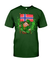 Norway St Patricks Day Norwegian Flag T-Shirt Classic T-Shirt front