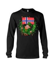 Norway St Patricks Day Norwegian Flag T-Shirt Long Sleeve Tee thumbnail