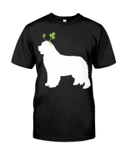 Newfoundland St Patrick's Day Dog Silhouette Classic T-Shirt tile