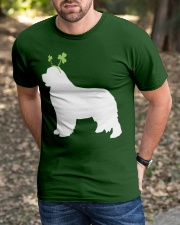 Newfoundland St Patrick's Day Dog Silhouette Classic T-Shirt apparel-classic-tshirt-lifestyle-front-52