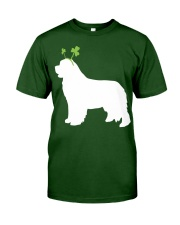 Newfoundland St Patrick's Day Dog Silhouette Classic T-Shirt front