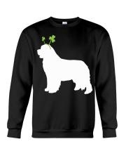 Newfoundland St Patrick's Day Dog Silhouette Crewneck Sweatshirt thumbnail