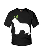 Newfoundland St Patrick's Day Dog Silhouette Youth T-Shirt thumbnail