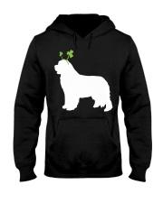 Newfoundland St Patrick's Day Dog Silhouette Hooded Sweatshirt thumbnail