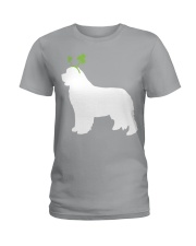 Newfoundland St Patrick's Day Dog Silhouette Ladies T-Shirt thumbnail