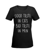 Good taste in Cats Ladies T-Shirt women-premium-crewneck-shirt-front