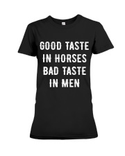 Good Taste in Horses Premium Fit Ladies Tee thumbnail