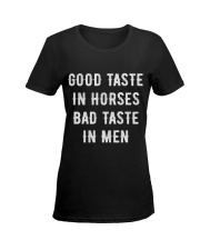 Good Taste in Horses Ladies T-Shirt women-premium-crewneck-shirt-front