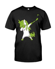 Dabbing Unicorn with Hockey Stick in Hand Classic T-Shirt front