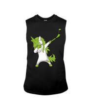Dabbing Unicorn with Hockey Stick in Hand Sleeveless Tee thumbnail