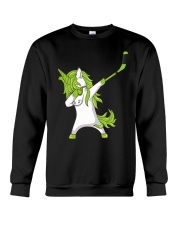 Dabbing Unicorn with Hockey Stick in Hand Crewneck Sweatshirt thumbnail