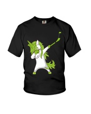 Dabbing Unicorn with Hockey Stick in Hand Youth T-Shirt thumbnail