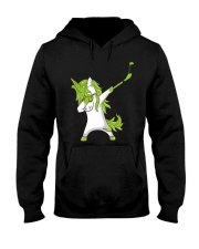 Dabbing Unicorn with Hockey Stick in Hand Hooded Sweatshirt thumbnail