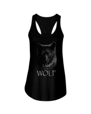 WOLF - I AM THE WOLF Ladies Flowy Tank thumbnail
