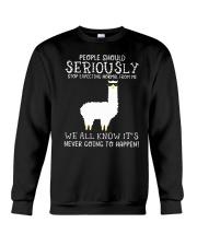 Llama People Should Seriously Crewneck Sweatshirt thumbnail