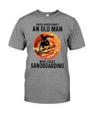 Sandboarding never old man Premium Fit Mens Tee tile