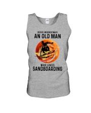 Sandboarding never old man Unisex Tank tile