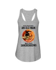 Sandboarding never old man Ladies Flowy Tank tile