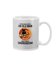 Sandboarding never old man Mug tile