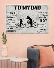 Cycling TO My Dad Poster 36x24 Poster poster-landscape-36x24-lifestyle-18