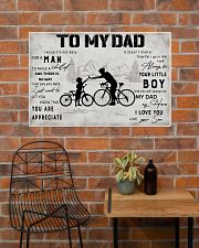 Cycling TO My Dad Poster 36x24 Poster poster-landscape-36x24-lifestyle-20