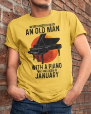 01 piano never old man Classic T-Shirt apparel-classic-tshirt-lifestyle-26