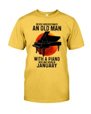 01 piano never old man Classic T-Shirt front