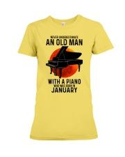 01 piano never old man Premium Fit Ladies Tee tile