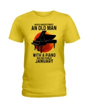 01 piano never old man Ladies T-Shirt tile