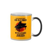 01 piano never old man Color Changing Mug tile