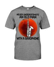 05 hat saxophone old man Premium Fit Mens Tee tile
