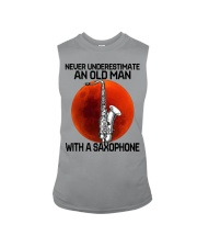 05 hat saxophone old man Sleeveless Tee tile