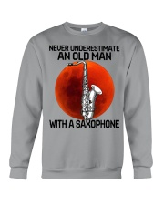 05 hat saxophone old man Crewneck Sweatshirt tile