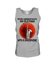 05 hat saxophone old man Unisex Tank tile